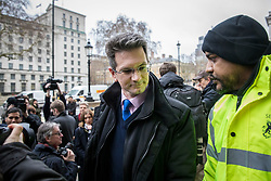 © Licensed to London News Pictures. 04/02/2019. London, UK. Steve Baker MP arrives at the Cabinet Office for a meeting of the Alternative Arrangements Working Group on Brexit. Photo credit: Rob Pinney/LNP