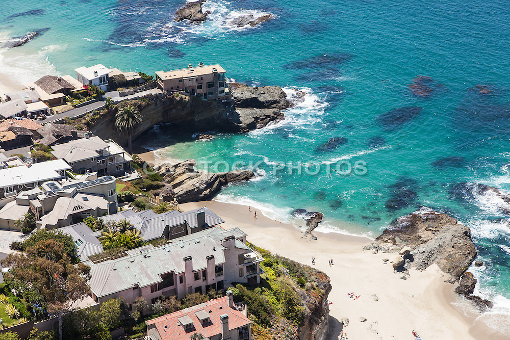 Aerial Stock Photo of Laguna Beach Coastline