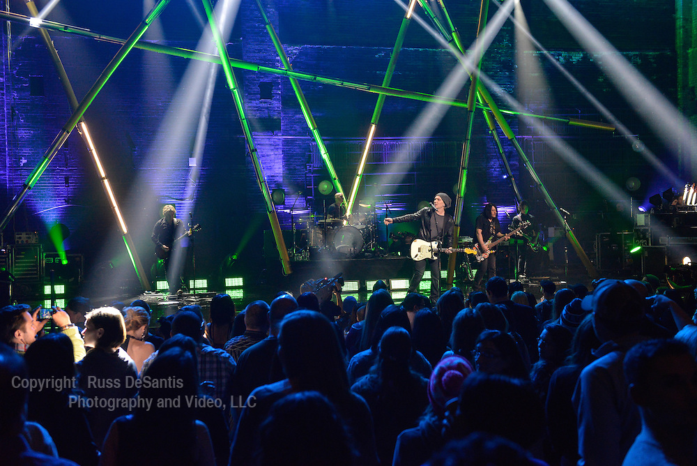 The Goo Goo Dolls performed at the St. George Theatre in Staten Island, NY, on Friday, January, 31, 2014. / Russ DeSantis/AP Images for the NFL
