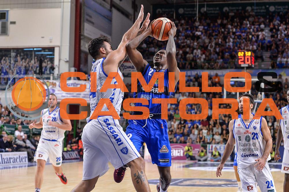 Lee Moore<br /> Dinamo Banco di Sardegna Sassari - Germani Basket Brescia Leonessa<br /> Lega Basket Seire A 2016/2017<br /> Sassari 15/10/2016<br /> Foto Ciamillo-Castoria