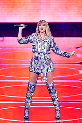 November 11, 2019, Shanghai, China: TAYLOR SWIFT performs at the 2019 Tmall Singles Day Gala at Mercedes-Benz Arena. (Credit Image: © Imaginechina via ZUMA Press)