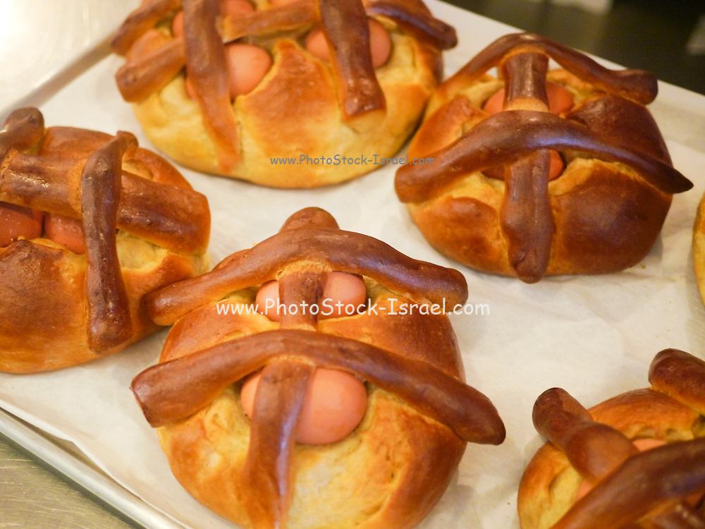 Easter Egg Pastry. Costa Nova, Portugal