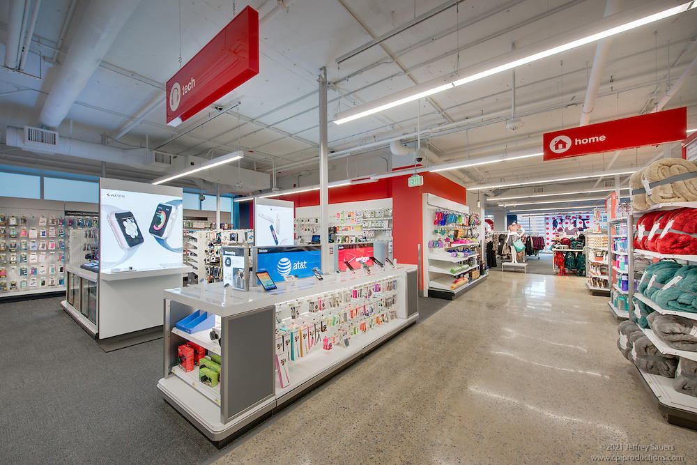 Interior Image of Target Store in Arlington Virgina by Jeffrey Sauers of Commercial Photographics, Architectural Photo Artistry in Washington DC, Virginia to Florida and PA to New England