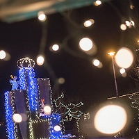 121714  Adron Gardner/Independent<br /> <br /> Christmas lights illuminate Fire and Ice Park in Grants Wednesday.