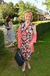 DAME ESTHER RANTZEN at the Frost Family Summer party in support of the British Heart Foundation and the Mile Frost Fund held at Burton Court, Chelsea, London  on 18th July 2016.