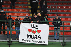 Fans of Mura 05 during football match between ND Mura 05 and NK Maribor in 21th Round of Slovenian First League PrvaLiga NZS 2012/13 on December 2, 2012 in Murska Sobota, Slovenia. (Photo By Ales Cipot / Sportida).