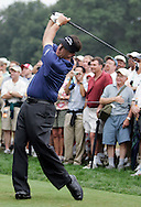 Phil Mickelson tee off on the 7th hole during a practice round at Baltusrol Golf Club Springfield, NJ Tuesday 9 August 2005.