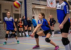 18-02-2017 NED:  Halve Finale NJOK, Houten<br /> In sporthal de kruisboog worden de wedstrijden gespeeld door CMV meisjes en jongens