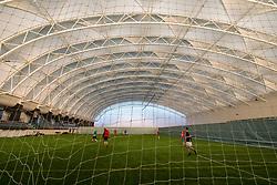 Interior of football pitch at Oriam National Sports Centre at Heriot Watt University in Edinburgh