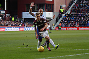Hearts FC Forward Gavin Reilly on the attack during the Ladbrokes Scottish Premiership match between Heart of Midlothian and Kilmarnock at Tynecastle Stadium, Gorgie, Scotland on 27 February 2016. Photo by Craig McAllister.