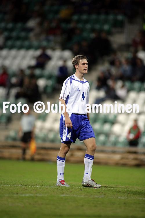 06.09.2005, Veritas Stadion, Turku, Finland..UEFA Under-21 European Championship qualifying match, Finland v Macedonia.Veli Lampi - Finland.©Juha Tamminen