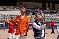Schuttert Frank, NED, Lansink Jos, BEL<br /> Rotterdam - Europameisterschaft Dressur, Springen und Para-Dressur 2019<br /> Parcoursbesichtigung<br /> Longines FEI Jumping European Championship - 1st part - speed competition against the clock<br /> 1. Runde Zeitspringen<br /> 21. August 2019<br /> © www.sportfotos-lafrentz.de/Dirk Caremans
