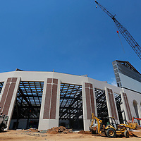 Thomas Wells | Buy at PHOTOS.DJOURNAL.COM<br /> The facade of the new North endzone expansion at Vaught-Hemmingway Stadium at Ole Miss.