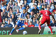 Brighton & Hove Albion winger Anthony Knockaert (11) during the EFL Sky Bet Championship match between Brighton and Hove Albion and Bristol City at the American Express Community Stadium, Brighton and Hove, England on 29 April 2017. Photo by Phil Duncan.