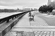 Carl Schurz Park esplanade  along the East River