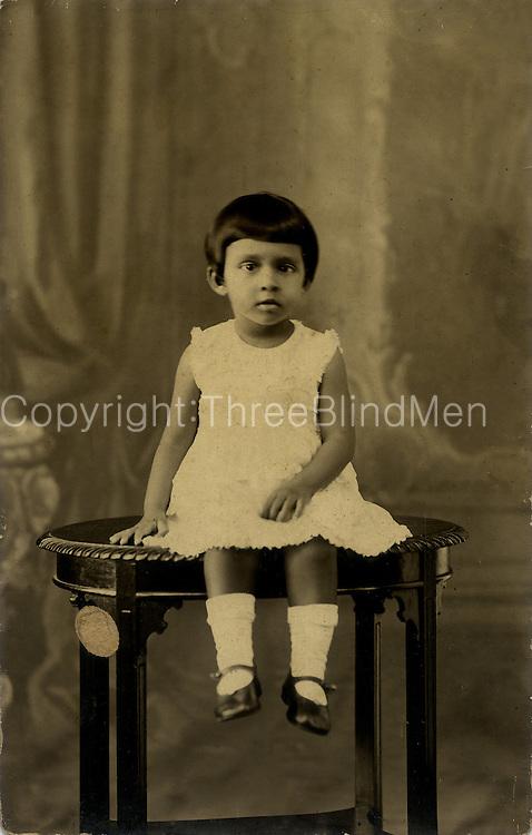 Jean Solomons aged 3.Jean Arasanayagam Archive.