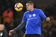 Wolverhampton Wanderers defender Conor Coady (16) warms up wearing Together With Leicester t-shirt during the Premier League match between Wolverhampton Wanderers and Tottenham Hotspur at Molineux, Wolverhampton, England on 3 November 2018.