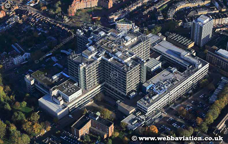 aerial photograph of the Royal Free Hospital Camden Greater London England UK