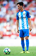 "SEVILLE, SPAIN - SEPTEMBER 30:  Juan Pablo Anor ""Juanpi"" of Malaga CF in action during the La Liga match between Sevilla and Malaga at Estadio Ramon Sanchez Pizjuan on September 30, 2017 in Seville  (Photo by Aitor Alcalde Colomer/Getty Images)"