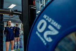 15-03-2017 NED:  Training jeugd Oranje, Arnhem<br /> Jeugd Oranje klaar voor het EK in eigen land maar eerst nog een pittige training / Dagmar Boom #4 of Netherlands