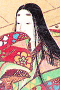extreme close up from a printed 17th century Japanese illustration