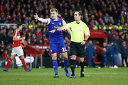 Referee Jeremy Simpson awards a penalty to Middlesbrough during the EFL Sky Bet Championship match between Middlesbrough and Ipswich Town at the Riverside Stadium, Middlesbrough, England on 29 December 2018.