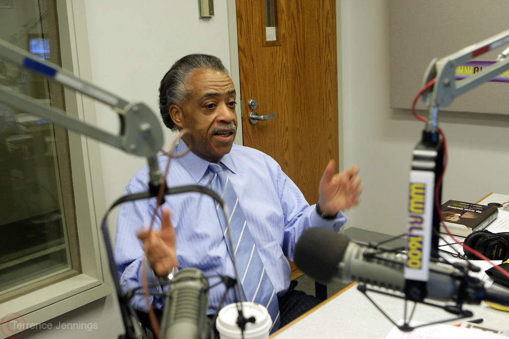 11 May 2010-New York, NY-Rev. Al Sharpton at his Radio Show at Studios of WWRL on May 11, 2010 in New York City. Photo Credit: Terrence Jennings/Sipa