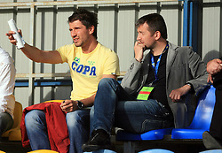 Dalibor Stevanovic and Dejan Djuranovic  at 32th Round of Slovenian First League football match between NK Domzale and NK Hit Gorica in Sports park Domzale, on May 6, 2009, in Domzale, Slovenia. Gorica won 2:0. (Photo by Vid Ponikvar / Sportida)