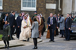 **live news rates apply**<br /> © Licensed to London News Pictures. File picture dated 07/03/2018. London, UK. A man believed to be Maher Abdulaziz Mutreb (far left), a bodyguard suspected in the murder of  Saudi Arabian journalist Jamal Khashoggi, pictured on Downing Street as part of the Entourage of Saudi Crown Prince Mohammed bin Salman. British Prime Minister Theresa May meet Saudi Crown Prince Mohammed bin Salman at No.10 Downing during a state visit. Photo credit: Dinendra Haria/LNP