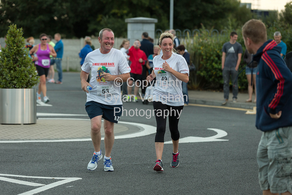 No Repro Fee<br /> <br /> <br /> 301/8/2013<br /> John Stone and Michelle Barry pictured at the third annual Genzyme for MS Five Mile Road Race in Waterford on Friday (Aug 30). All proceeds from the race are going to the Waterford branch of the Multiple Sclerosis Society of Ireland. <br /> <br /> Picture Dylan Vaughan.