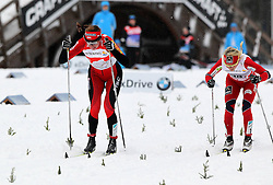 30.12.2011, DKB-Ski-ARENA, Oberhof, GER, Viessmann FIS Tour de Ski 2011, Pursuit/ Verfolgung Damen im Bild Zieleinlauf Justyna Kowalczyk (POL) vor Therese Johaug (NOR) . // during of Viessmann FIS Tour de Ski 2011, in Oberhof, GERMANY, 2011/12/30 .. EXPA Pictures © 2011, PhotoCredit: EXPA/ nph/ Hessland..***** ATTENTION - OUT OF GER, CRO *****