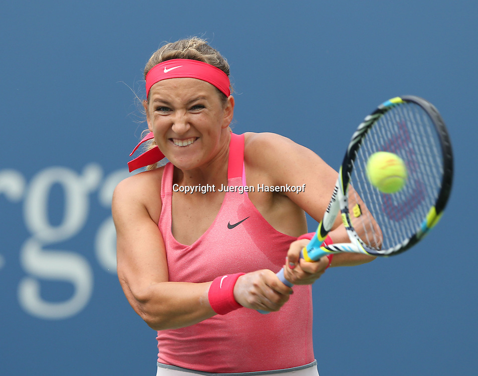 US Open 2013, USTA Billie Jean King National Tennis Center, Flushing Meadows, New York,<br /> ITF Grand Slam Tennis Tournament .<br /> Victoria Azarenka (BLR),Aktion,Einzelbild,<br /> Halbkoerper,Querformat