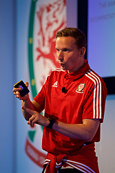 NEWPORT, WALES - Sunday, May 28, 2017: Liverpool FC's first-team development coach Pepijn Lijnders gives a presentation on Tactical Periodisation during day three of the Football Association of Wales' National Coaches Conference 2017 at the Celtic Manor Resort. (Pic by David Rawcliffe/Propaganda)