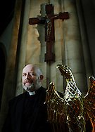 Lionel Fanthorpe, priest, author and television presenter.<br /> <br /> Commissioned by Swansea's 'Year of Literature'.