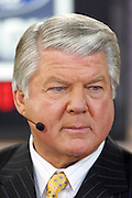 GLENDALE, AZ - JANUARY 8:  Jimmy Johnson on the set of the FOX Sports television broadcast of the Ohio State Buckeyes game against the Florida Gators at the 2007 Tostitos BCS National Championship Game at the University of Phoenix Stadium on January 8, 2007 in Glendale, Arizona. The Gators defeated the Buckeyes 41-14. ©Paul Anthony Spinelli *** Local Caption *** Jimmy Johnson