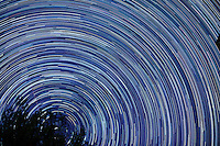 Star Trails, Autumn Night Sky Looking North in New Jersey. Composite of ~250 images taken with a Nikon D3x camera and 58 mm f/1.4 lens (ISO 100, 58 mm, f/2, 30 sec) combined using the startrails.exe program.