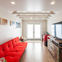 Interior of a residential detached garage remodel