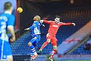 Calvin Andrew,  Sam Morsy during the Sky Bet League 1 match between Rochdale and Chesterfield at Spotland, Rochdale, England on 9 January 2016. Photo by Daniel Youngs.