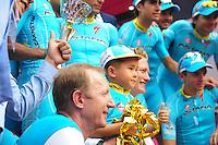 Shefer Alexandre / Vinokourov Alexander - Astana - 31.05.2015 - Tour d'Italie - Etape 21 : Turin / Milan <br />Photo : Sirotti / Icon Sport *** Local Caption ***