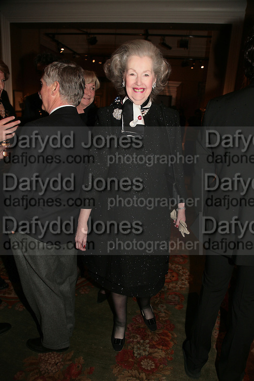 Raine Countess Spencer, private view of The Alberto Bruni Tedeschi Collection -  Sotheby's,19 March 2007.  -DO NOT ARCHIVE-© Copyright Photograph by Dafydd Jones. 248 Clapham Rd. London SW9 0PZ. Tel 0207 820 0771. www.dafjones.com.
