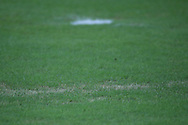 Bare patches in the grass in one of the penalty areas during the England open training session at Arena da Amazonia, Manaus, Brazil. <br /> Picture by Andrew Tobin/Focus Images Ltd +44 7710 761829<br /> 13/06/2014