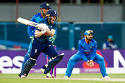 England ODI Captain & Batsman Eoin Morgan doesn't seem to want the run during the 3rd Royal London ODI match between England and India at Headingley Stadium, Headingley, United Kingdom on 17 July 2018. Picture by Simon Davies.