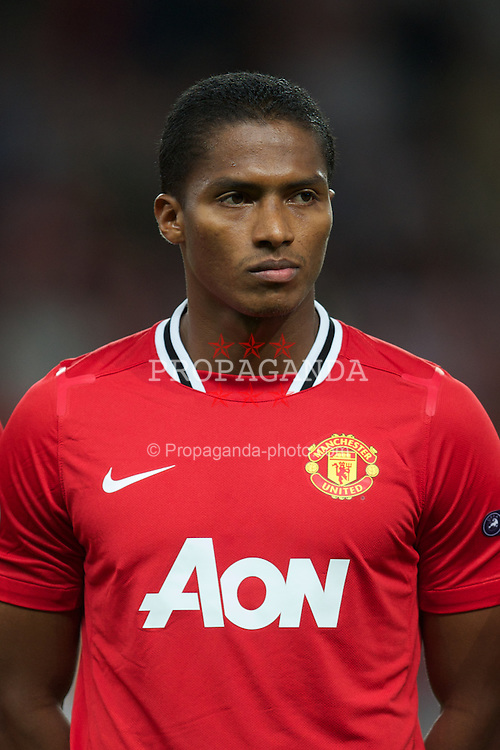MANCHESTER, ENGLAND - Tuesday, September 27, 2011: Manchester United's Antonio Valencia before the UEFA Champions League Group C match against FC Basel 1893 at Old Trafford. (Pic by David Rawcliffe/Propaganda)