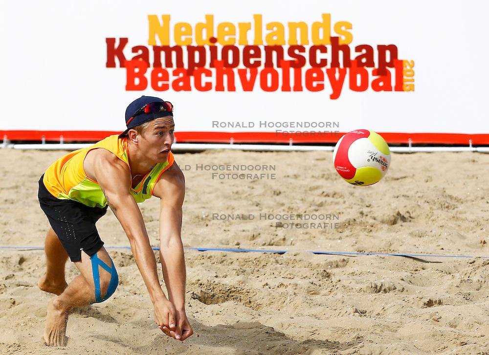 20150829 NED: NK Beachvolleybal 2015, Scheveningen<br />Steven van de Velde