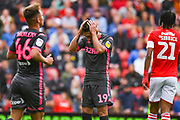 Leeds United midfielder Pablo Hernandez (19) reacts during the EFL Sky Bet Championship match between Barnsley and Leeds United at Oakwell, Barnsley, England on 15 September 2019.