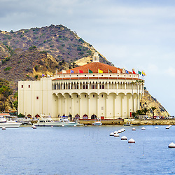 Catalina Island panoramic picture of the Catalina Casino and Avalon Bay. The Catalina Casino is one of the most popular attractions on Catalina Island.