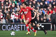 Picture by Daniel Chesterton/Focus Images Ltd +44 7966 018899.16/03/2013.Jack Cork of Southampton and Steven Gerrard of Liverpool in action during the Barclays Premier League match at the St Mary's Stadium, Southampton.