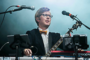 Public Service Broadcasting play the Obelisk Stage - The 2017 Latitude Festival, Henham Park. Suffolk 16 July 2017