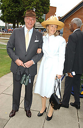 RICHARD & MARY HAMBRO at the King George VI and The Queen Elizabeth Diamond Stakes sponsored by De Beers held at Newbury Racecourse, Berkshie on 23rd July 2005.<br />