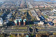 Nederland, Noord-Holland, Amsterdam, 11-12-2013; zicht op Overtoomse Veld en Slotervaart, Cornelis Lelylaan. A10 West (Einsteinweg) onder in beeld.<br /> 20th century town extensions, gardencities and ring road, Amsterdam West.<br /> luchtfoto (toeslag op standard tarieven);<br /> aerial photo (additional fee required);<br /> copyright foto/photo Siebe Swart